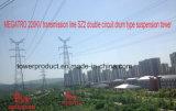 Doppia torretta della trasmissione di tensionamento del circuito di Megatro 220kv Sdjb