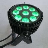 Luz al aire libre del proyector de la Navidad del aluminio 5in1 Rgbaw IP65 LED