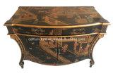 Gabinete de lujo de la consola del chalet del hotel de los muebles pintados a mano del hogar