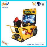 Tipo simulador del programa piloto de la velocidad del coche de competición que conduce la máquina de la arcada