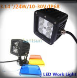 diodo emissor de luz Work Light Spot Car Light de 24W 10-30V Squar