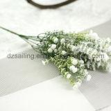 Flor artificial del Gypsophila plástico decorativo de la alta calidad con la nieve (SF15696)