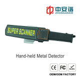 Detector van het Metaal van de Scanner van het Lichaam van hoge Prestaties de Handbediende met het Alarm van de Trilling