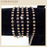 Divers Sizes Rhinestone Cup Chains avec Colorful Stones pour Garments Accessory