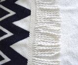熱い販売のMicrofiberか100%年の綿のカスタム反応プリント円形のビーチタオル