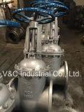 L'acciaio di getto manuale Wcb ha flangiato valvola a saracinesca