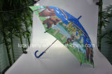 Heat Transfer Printing Cartoon Designの子供Auto Open Umbrella