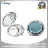 Espelho de cristal de dobramento do estojo compato do metal da alta qualidade