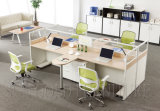 높은 담 가구 나무로 되는 2 Seater 사무실 워크 스테이션 작은 칸막이실