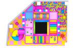 キャンデーの主題の演劇の中心またはショッピングモールのための屋内子供公園の運動場