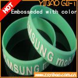 Bracelet de silicones gravé en relief par coutume chaude de vente (YB-LY-WR-11)