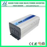 DC48V AC110/120V 5000W outre des inverseurs purs d'onde sinusoïdale de réseau (QW-P5000)