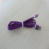 cabo liso do USB do TPE da liga 2A de alumínio para o iPhone 5/6