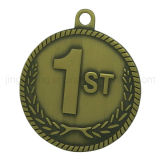 Emblème rond en métal de médaille d'insigne d'émail d'or