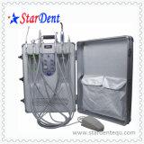 ライトおよび計数装置の治癒で構築されるを用いる携帯用歯科単位