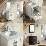 連邦機関1981A 24インチの卸売の大理石の上の商業現代白い浴室の虚栄心