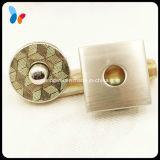 Bouton magnétique fort en métal carré