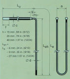 Tipo de alta temperatura elemento de Rod de aquecimento de Mosi2