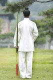 道教高級なパフォーマンスWudang Taiのキーの厚いリネン衣類