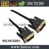 мужчина 15m черный DVI к мыжскому кабелю для HDTV