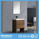 Heißer verkaufender freier Fußboden - eingehangene Eckhotel-Badezimmer-Eitelkeit (Bf133V)