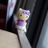 USB Flash Drive Hello Kitty púrpura de dibujos animados de PVC