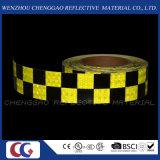 형광성과 까만 Checkered 접착성 사려깊은 안전 경고 테이프 (C3500-G)