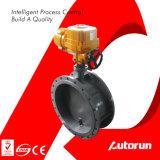 Escolhir/válvula de borboleta elétrica ex da ventilação flange dobro