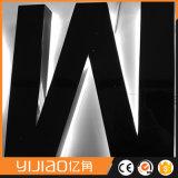 Logo éclairé à contre-jour par DEL visuel d'effet ou signe de lettre pour la publicité