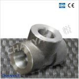 Duples Acero Inoxidable 3000lb Forged Fitting Tee En / DIN (1.4501, X2CrNiMoCuWN25-7-4)