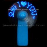 주문을 받아서 만들어진 로고 (3509)를 가진 건전지에 의하여 운영하는 주문을 받아서 만들어진 메시지 LED 소형 팬