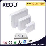 Luz del panel superior de la venta LED con la luz del panel cuadrada de RoHS LED del Ce 18 24W
