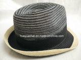 Sombrero de paja cosido trenza mezclada del sombrero de ala de la trenza del poliester del color