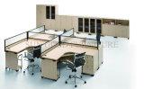 Классицистическая коммерчески рабочая станция офисной мебели 4-Seater с высокой перегородкой (SZ-WS312)