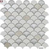 Mattonelle di marmo di vetro di ceramica della parete del mosaico del materiale da costruzione (SA001)