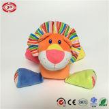 Jouet de lion bourré par peluche colorée molle libre d'attraction de pattes