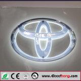 Kundenspezifisches Acrylauto-Firmenzeichen und ihr Name