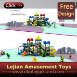 Cour de jeu en plastique extérieure d'enfants superbes de qualité de GV (X1502-10)