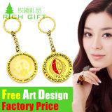 Il marchio del doppio del regalo di promozione progetta l'anello portachiavi per il cliente