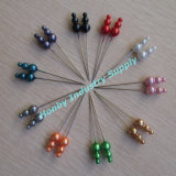 60mm Colorful Decorative Triple Pearl Head Pins