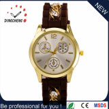 여자 시계 (DC-631)를 위한 2016년 선물 크리스마스 금시계 석영 운동 시계 다이아몬드 실리콘 결박 시계