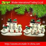 Regalo del arte de la decoración del árbol de navidad de la arcilla del polímero de la familia del muñeco de nieve