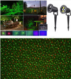 Projecteur commercial vert rouge de lumières lasers de vente de jardin imperméable à l'eau chaud de laser extérieur