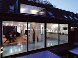 Projeto moderno Windows de alumínio das propriedades luxuosas e portas