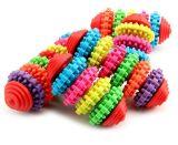 Het kleurrijke Rubber Grappige het Spelen van de Kat van de Hond van het Hulpmiddel van de Opleiding van het Puppy Toestel van de Gom van de Tanden van het Speelgoed kauwt Stuk speelgoed