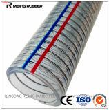 """1/2 """" - 8 """" PVC 섬유와 철강선 강화되는 나선형 철강선 강화된 호스"""