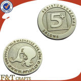 鋳造3D Embossed Custom Gold Silver Copper Coin (FTCN1954A)