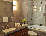 Acquazzone della stanza da bagno di sistema di chiusura dell'acquazzone di vetro Tempered