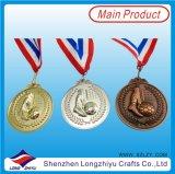 La médaille en alliage de zinc du football 3D meurent la médaille de bronze d'argent d'or de moulage, médaille avec votre propre logo