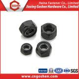 Schwarzes Oxid-Nyloneinlage-Gegenmutter ANSI/DIN982/DIN985